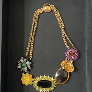 Banana Republic Floral Brooch Necklace